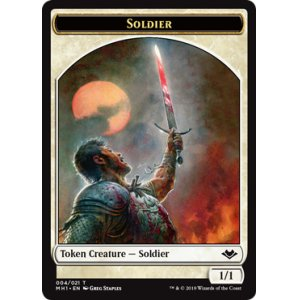 Photo1: Soldier Token FOIL [MH1]